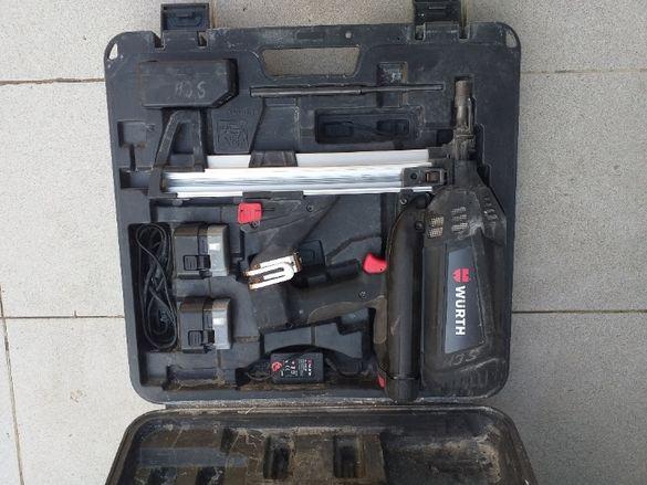 Пистолет за директен монтаж (коване) в дърво, бетон и метал Вюрт