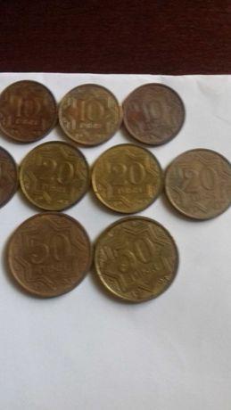 Монеты казахстанские тиыны