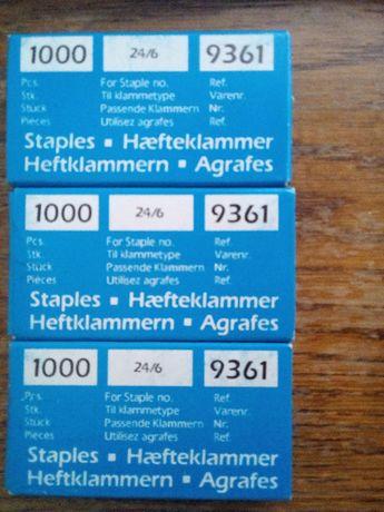 3 cutii capse 1000 buc. 24/6 Bantex de calitate ptr capsatoare