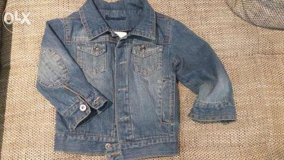 дънково подплатено яке + дънково яке със сваляща се качулка-2бр за 18л