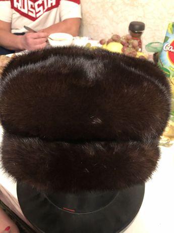 Норковая мужская кепка( шапка)