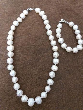 Colier din perle de cultură mari