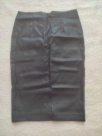юбка кожаная Зара, размер S-M