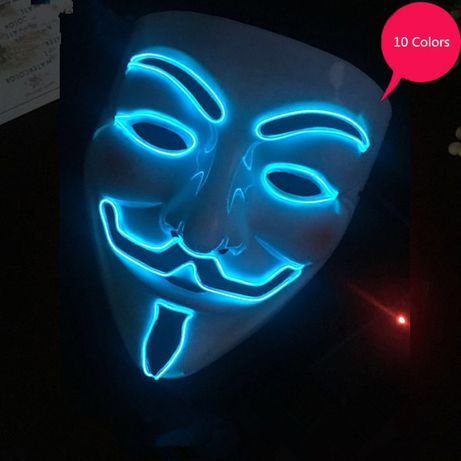 Masca led UNTOLD Anonymous V for Vendetta Guy Fawkes anonimos +CADOU!