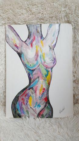 Pictura pe panza in acrylic.Dimensiune 30/40