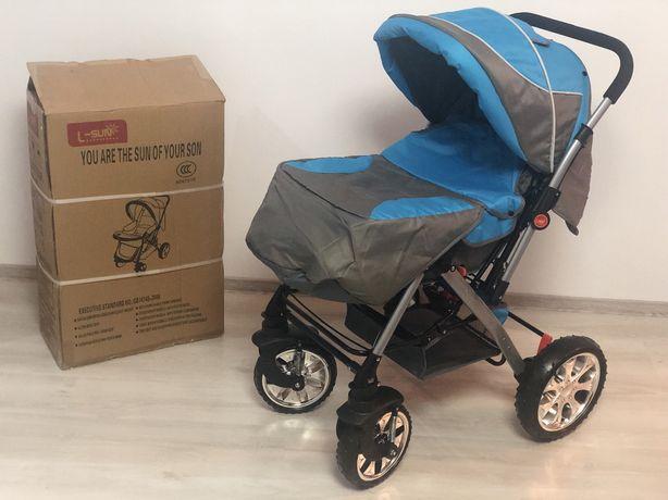 Carucior copii sport Luna Travel Kota Baby Albastru