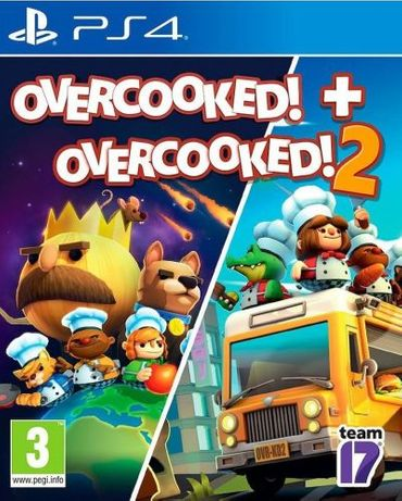 [ps4]! Най-ниска цена! Overcooked! + Overcooked! 2 - Double Pack НОВИ