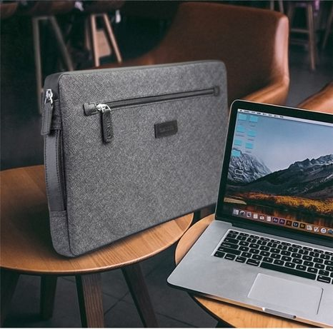 Husa geanta MacBook,Surface universala 13 inch piele + textil, Qialino