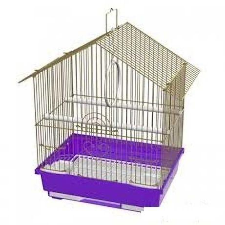 Продам разборную клетку для попугайчика/канарейки, 2 кормушки, навесы