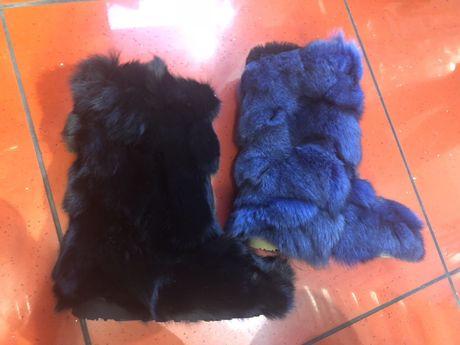 Ugg blana naturala vulpe ! Disponibil pe negru si albastru