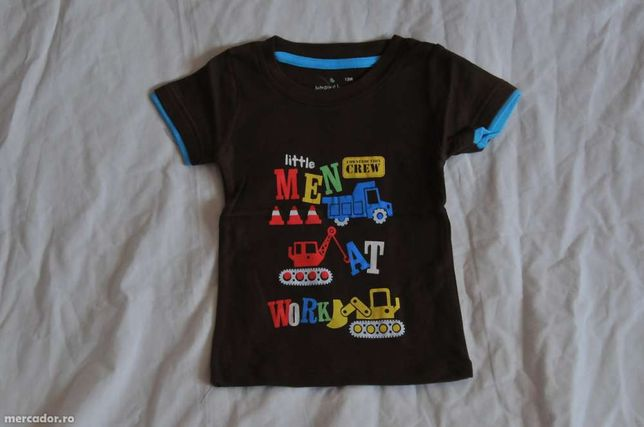 Tricou cu maneca scurta pentru baieti 12 luni - 4 ani