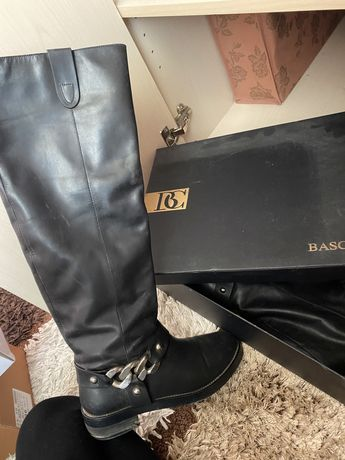 кожаные сапоги баскони