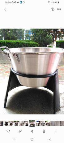 Ceaun/căldare/cazan inox, 40 litri, Promo 449 lei