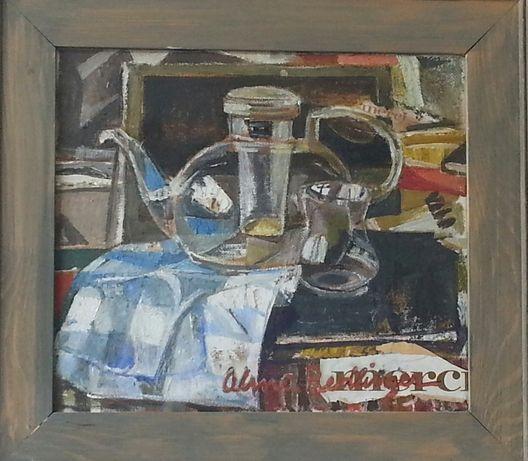 Tablou original Alma Redlinger-Natura moarta cu ceainic. Investitie !
