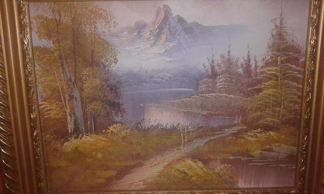 Peisaj,pictura pe pinza