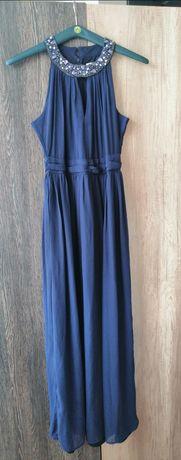 Дълга тъмносиня рокля р-рL/XL