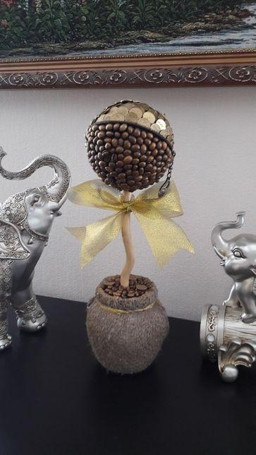 Подарок к празднику! Денежно кофейное дерево! Сувенир ручной работы!