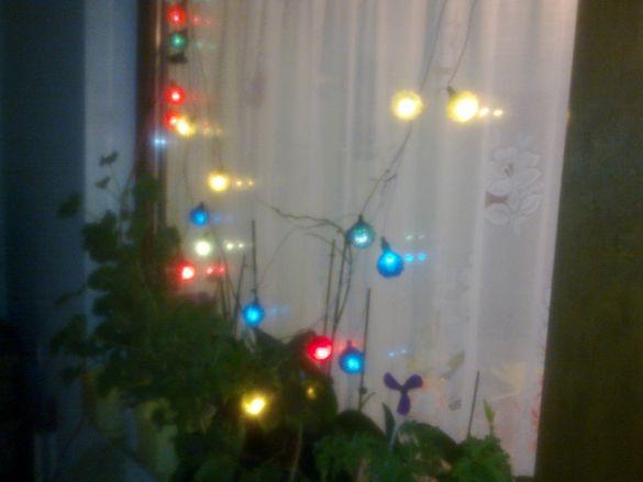 Ретро лампички / топки / за коледна украса на елха от 80 години