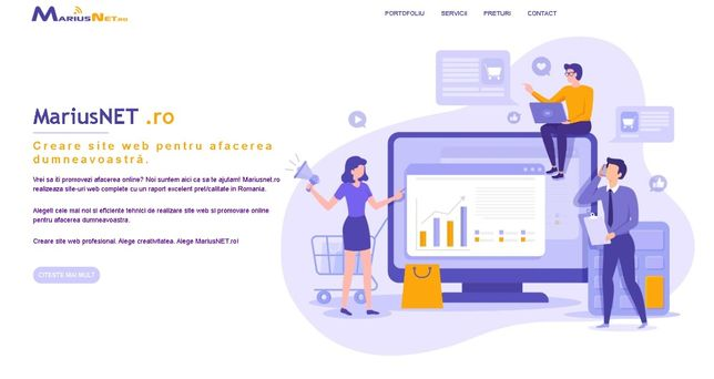 Creare Site web 250Eur-Responsive/Personalizat/Logo/Promovare/Indexare