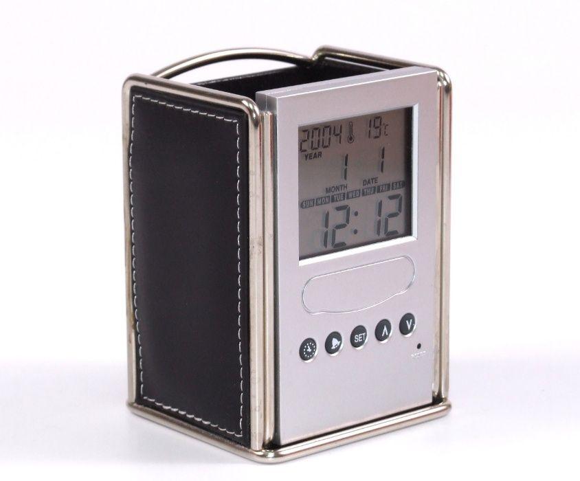 Ceas - Calendar - Termometru - Cronometru - Suport pixuri - Etc., NOU Bacau - imagine 1