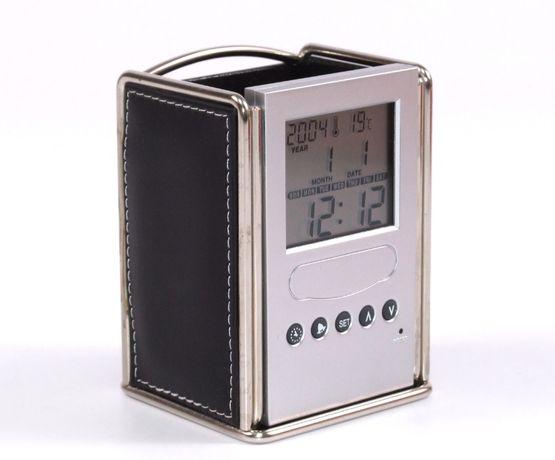 Ceas - Calendar - Termometru - Cronometru - Suport pixuri - Etc., NOU
