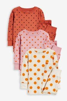 Комплект 3 пижами марка Next 7-8г