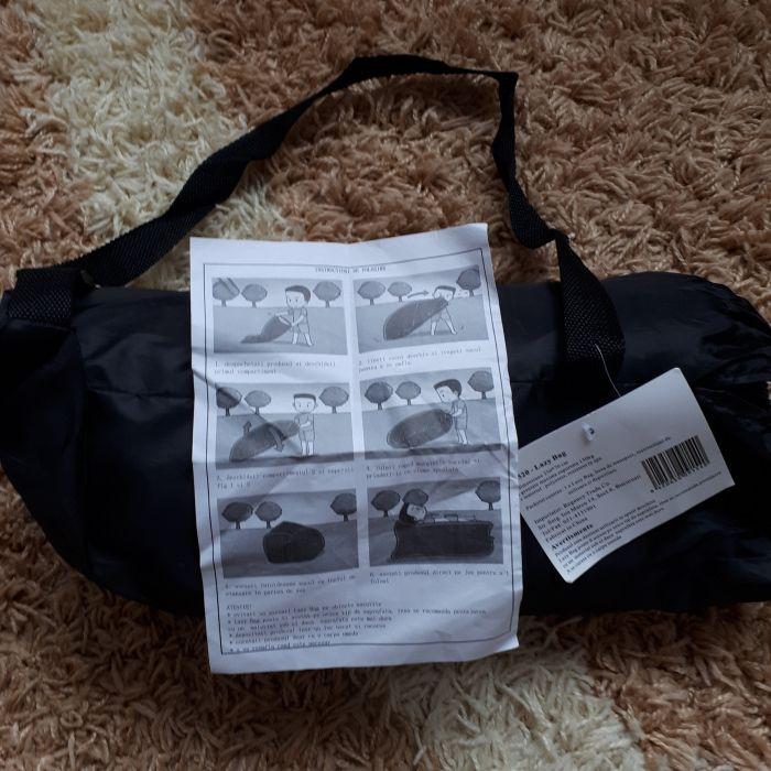 Lazy bag- Lamzac-saltea-Sezlong gonflabil Ardeluta - imagine 1