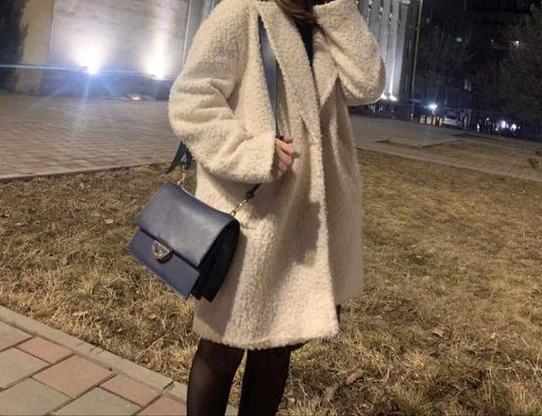 Пальто белое  Bershka