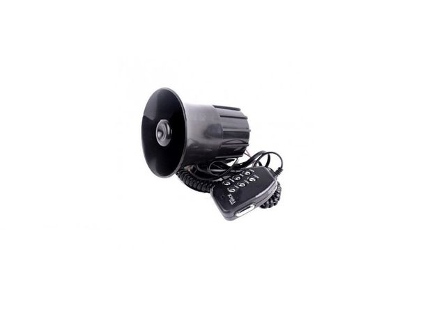 Sirena 5 Melodii + Microfon Putere 100W Nou