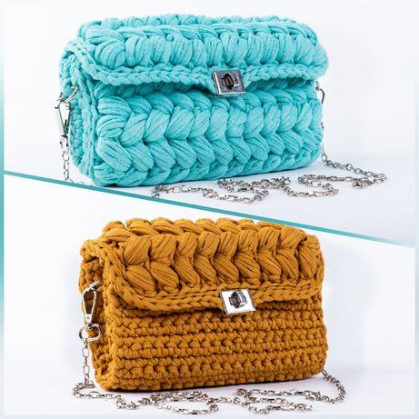 Плетена дамска чанта, тип клъч