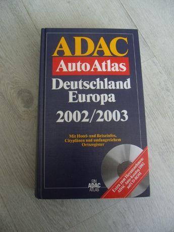 оф.4928 стара книга - карта / атлас .ADAC Auto Atlas Europa