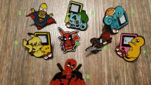 Значки , пинове, пинчета, сувенири , покемон , играчки