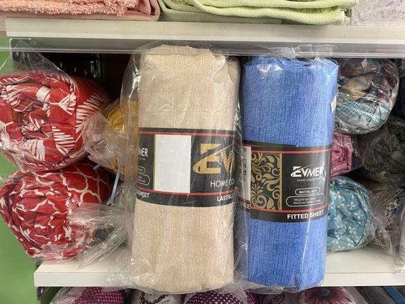 Ранфорс памук чаршафи с ластик с калъфки- на едро и дребно