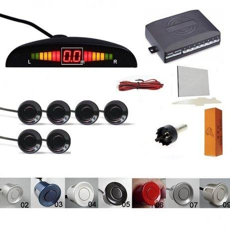 Senzori parcare auto afisaj display avertiz sonora fata spate set kit