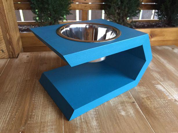 Suport lemn cu bol inox 0,75l pentru hrana caine/pisica