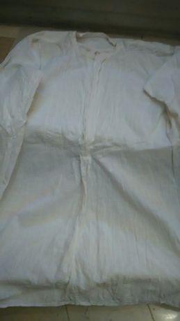Кенарена  риза - бяла ,къса