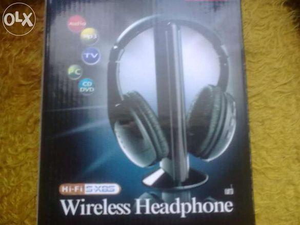HI Fi безжични слушалки за тв,аудио,компютър, сд, двд квалитетни