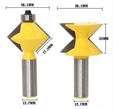 Set 2 freze lemn GOBI canturi / imbinare in V prindere 12.7 mm