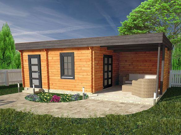 Сглобяеми дървени преместваеми къщи масив 37м2 - дървени бунгала масив
