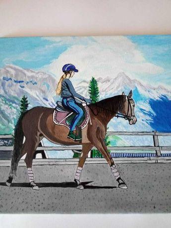 Картина - конна ездачка