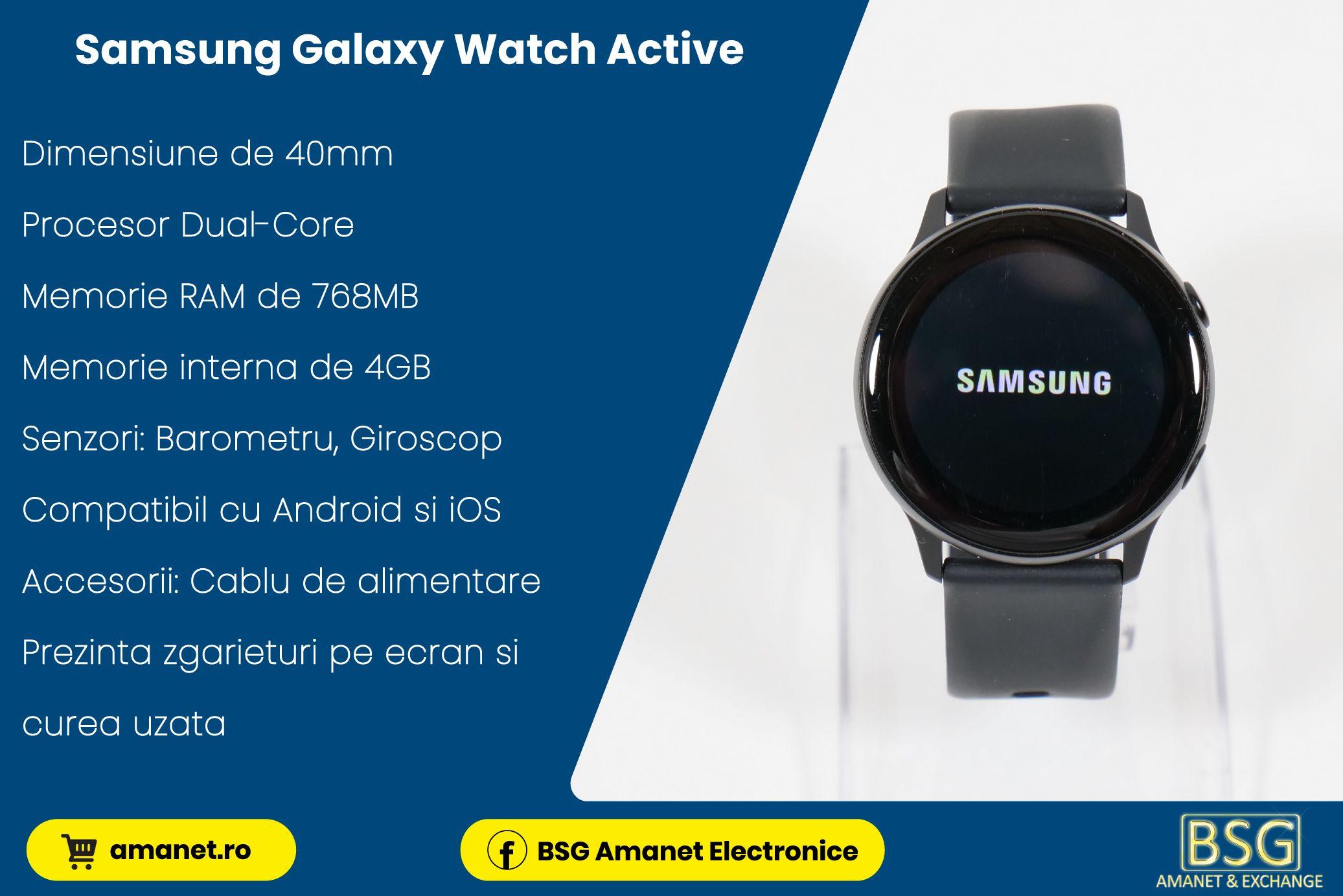 Smartwatch Samsung Galaxy Watch Active - BSG Amanet & Exchange