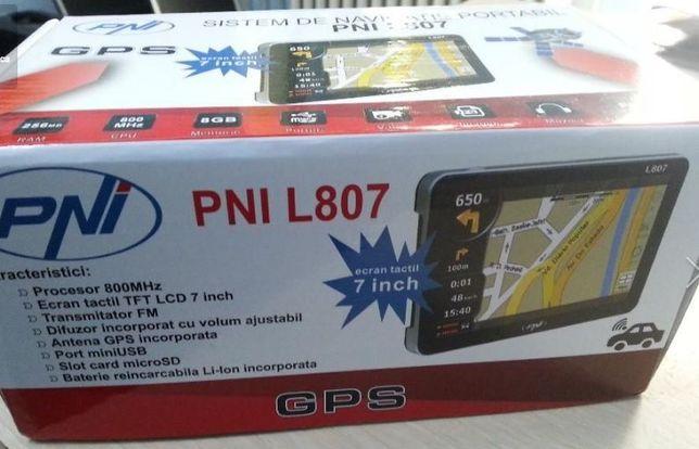 GPS portabil PNI L807 7 inch, 800 MHz, 256M DDR, 8GB memorie