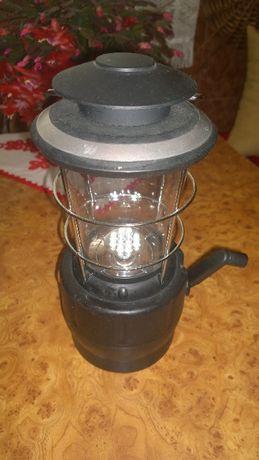 Lampa cort camping etc cu dinam si cablu curent