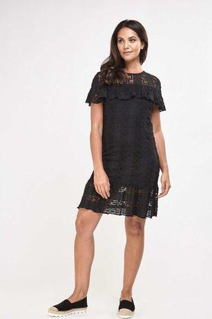 черна рокля дантела м/л размер