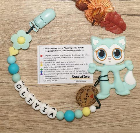 Cadouri minunate - Lantisor pentru suzeta, Jucării dentitie