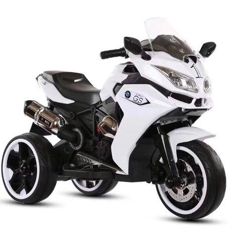 Motocicleta electrica pentru copii BJ1200 2x30W STANDARD #Alb