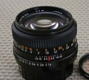 Obiectiv Revuenon Auto MC 50 mm f1.4 compatibil fullframe Sony A7, A9
