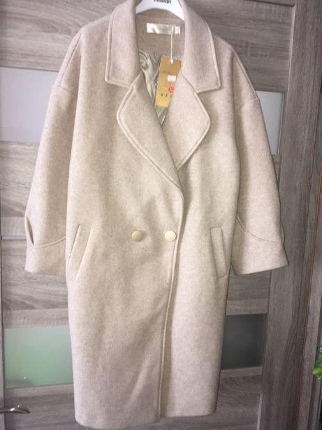 Новое. Стильное кашемировое пальто. Весна-осень. Цена со скидкой.