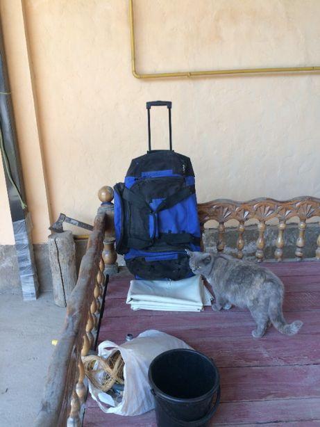 три в одном: рюкзак, сумка, тележка