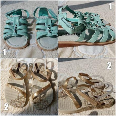 Детски нови сандали 15 - 16см №24 -25 2бр Lupilu и Ipanema